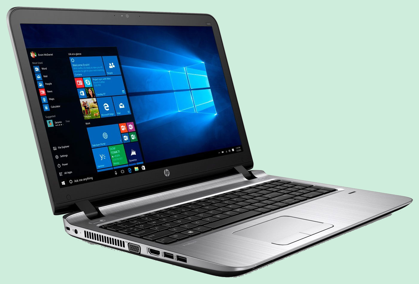 Ordinateur portable Hewlett Packard, Microsoft
