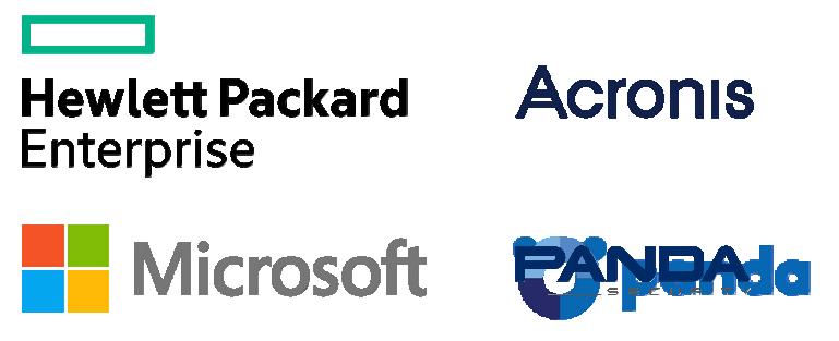 Serveur backup entreprise Hewlett Packard, Acronis, Microsoft, anti-virus anti-spam Panda Security
